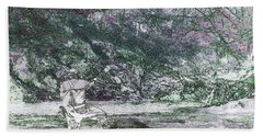 Bath Towel featuring the photograph Smoky Mountain Fisherman by Mike Eingle