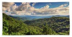Smoky Mountains Panorama Bath Towel