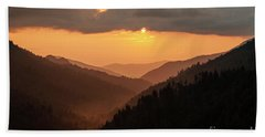 Smoky Mountains Sunset - D010157 Hand Towel