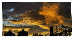 Bath Towel featuring the photograph Smoky Sunset by Jeremy Lavender Photography