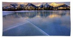 Smooth Ice Hand Towel by Dan Jurak