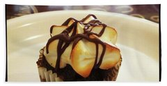Bath Towel featuring the photograph smore Miniature Cupcake N Coffee by Mr Photojimsf