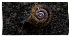 Bath Towel featuring the photograph Snail by Jay Stockhaus