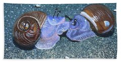 Snail Kisses Bath Towel by Susan Duda