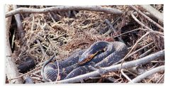 Hand Towel featuring the photograph Snake by Ester Rogers