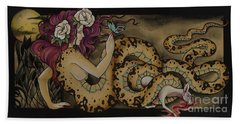 Snake Lady Hand Towel