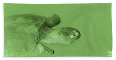 Snapping Turtle Green Hand Towel