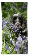 Sniffing Bluebells Hand Towel