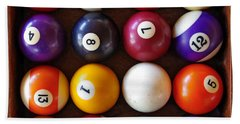 Snooker Balls Bath Towel