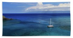Snorkeling In Maui Hand Towel by James Eddy