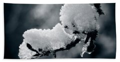 Hand Towel featuring the photograph Snow - 365-284 by Inge Riis McDonald