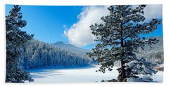 Snow At Beaver Brook Hand Towel