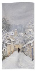 Snow At Louveciennes Hand Towel