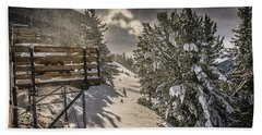 Snow Hand Towel by Bill Howard