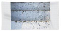 Snow Bird Tracks Bath Towel