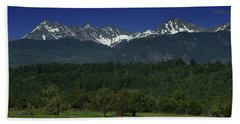 Snow Capped Mountains 2 Hand Towel
