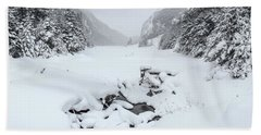 Snow Covered Lake Hand Towel