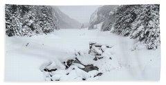 Snow Covered Lake Bath Towel