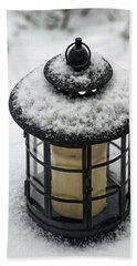 Snow Covered Lamp Bath Towel