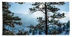 Snow-covered Trees Bath Towel