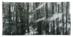 Snow Down Hand Towel by Betsy Zimmerli