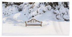 Snow Dwarfed Bench Hand Towel