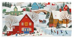 Snow Family  Hand Towel