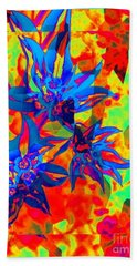 Snow In Sumemr Abstract Hand Towel
