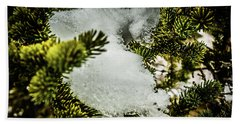 Snow In The Trees Hand Towel by Bill Howard