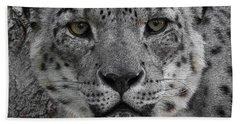 Snow Leopard 5 Posterized Hand Towel