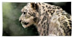 Snow Leopard Bath Towel