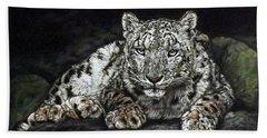 Snow Leopard Hand Towel