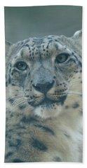 Bath Towel featuring the photograph Snow Leopard Portrait by Sandy Keeton