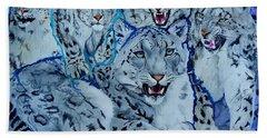 Snow Leopards Hand Towel