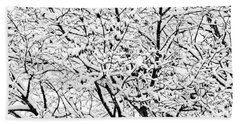 Bath Towel featuring the photograph Snow On Branches by Lars Lentz