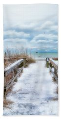 Snow On The Beach 9 Bath Towel
