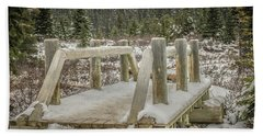 Snow On The Bridge Hand Towel by Bill Howard