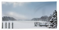 Snow On The Lake Hand Towel