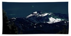 Snow On The Mountain At Night Bath Towel