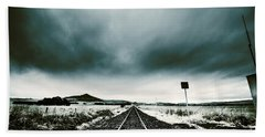 Bath Towel featuring the photograph Snow Railway by Jorgo Photography - Wall Art Gallery