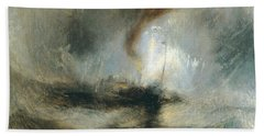 Bath Towel featuring the painting Snow Storm by Joseph Mallord William Turner