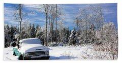 Snow Truck Hand Towel
