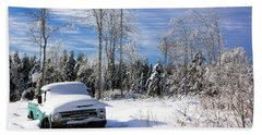 Snow Truck Bath Towel