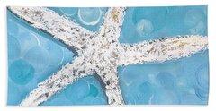 Snow White Starfish Hand Towel