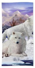 Snow Wolves Of The Wild Bath Towel
