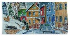 Snow, Wright St, Stapleton Hand Towel