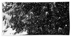 Hand Towel featuring the photograph Snow by Yulia Kazansky