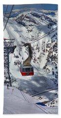 Snowbird Tram Portrait Hand Towel