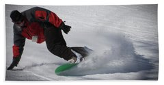 Hand Towel featuring the photograph Snowboarder On Mccauley by David Patterson