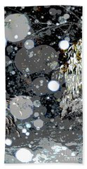 Snowfall Deconstructed Hand Towel by Li Newton